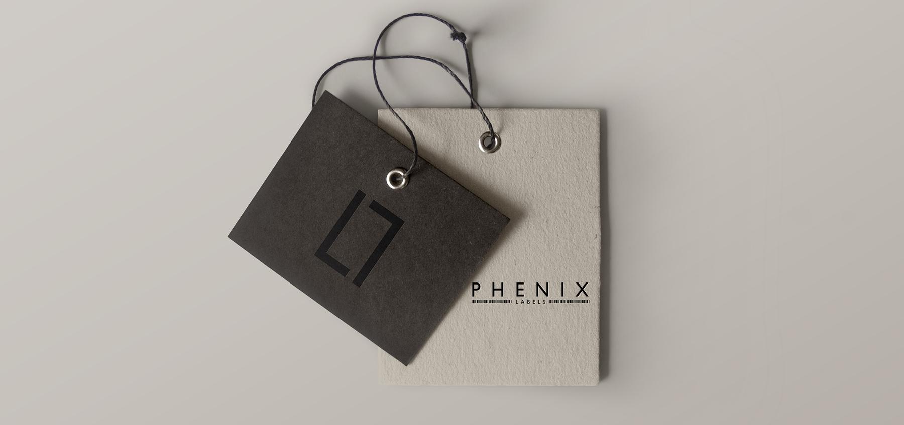 Étiquette carton Phenix